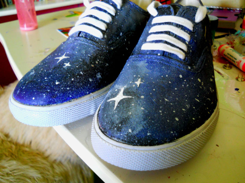 Galaxy Shoes 183 How To Paint A Pair Of Patterned Shoes