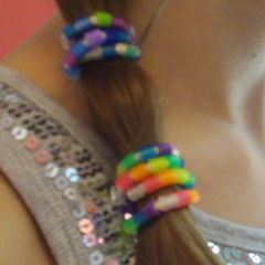 Melty Beads + Old Ponytail Holder = Cool New Hair Accessory!!!