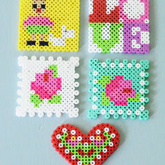Square perlercoasters