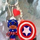 Captain America Keychain (: