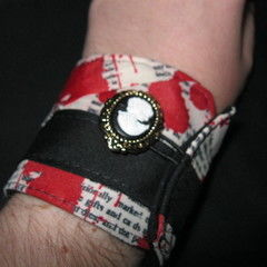 Poe Inspired Fabric Cuff Bracelet