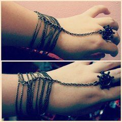 Hand Chain With Ring