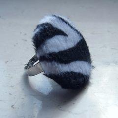 Zebra Fur Ring