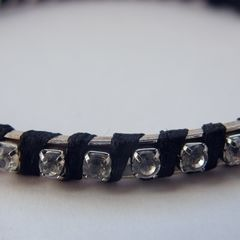 Wrapped Rhinestone Bangle