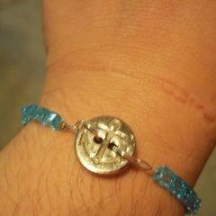Anchor Button Bracelet