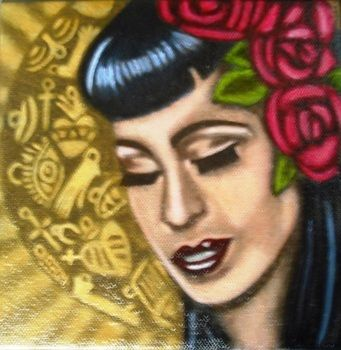 Newly finished oil painting  .  Make a paintings by creating and drawing with paint brush, canvas, and oil paint. Inspired by mexican, vintage & retro, and people. Creation posted by artefact. Difficulty: 4/5. Cost: 3/5.