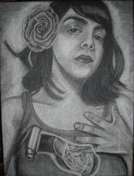 Newly finished oil painting  .  Create a portrait by creating and drawing with paint brush, canvas, and oil paint. Inspired by mexican, vintage & retro, and people. Creation posted by artefact. Difficulty: 4/5. Cost: 3/5.