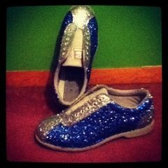 Glitterized Bowling Shoes!