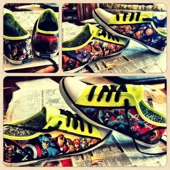 .  Make a pair of decoupage shoes in under 60 minutes by decorating and embellishing Inspired by comic books, vintage & retro, and clothes & accessories. Version posted by Delaney M. Difficulty: 3/5. Cost: 3/5.