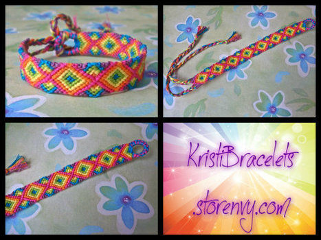 Friendship bracelets yay! .  Make a hand bracelet by braiding, jewelrymaking, and knotting with embroidery floss. Inspired by clothes & accessories. Creation posted by Kristi E. Difficulty: Simple. Cost: Cheap.