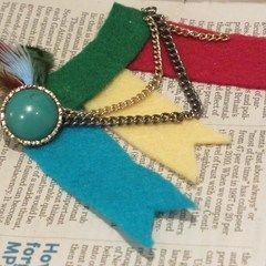 Feather In Your Cap Brooch