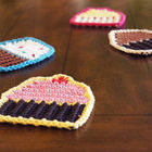 Crocheted Cupcake Coasters