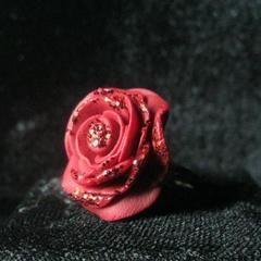 Glitter Rose Ring
