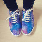 Galaxy Print Shoes