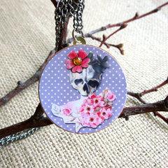 Decoupaged Pendant Necklace