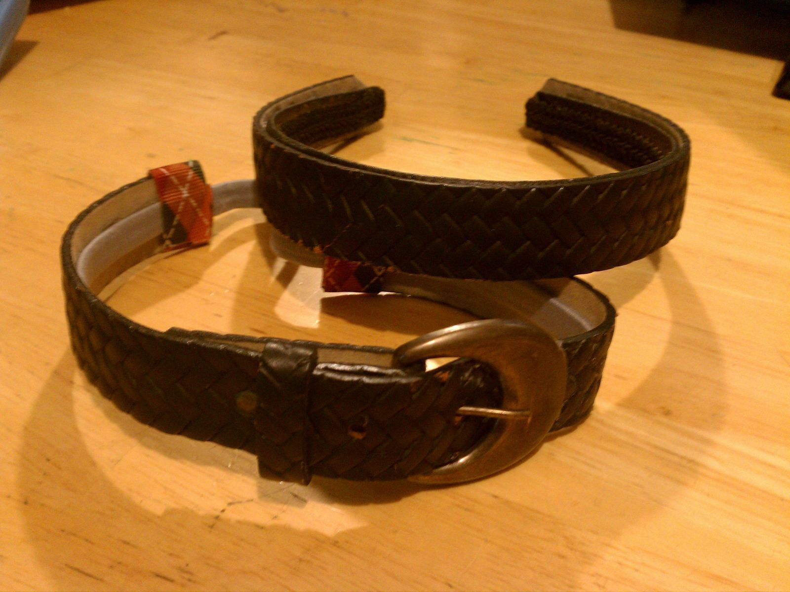 Vintage Belt Headband · How To Make A Recycled Headband ... Quailman Belt Headband