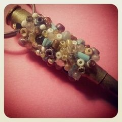 Beaded Bullet Keychain