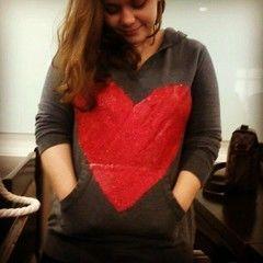 Glitter Heart Sweater