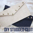 Square small hh diystuddedclutch