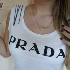 Prada Chain Vest Top
