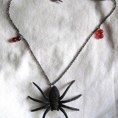 Glitter Spider Necklace