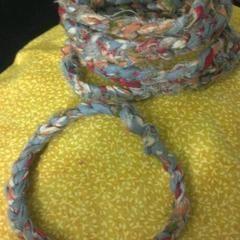 Crochet Fabric Bangles