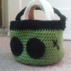 Halloween Crochet Stacking Baskets