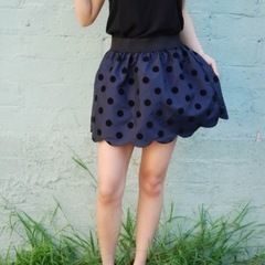 Scalloped Hem Skirt