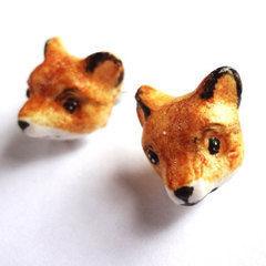 Polymer Clay Fox Earrings
