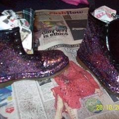Diy: Glittery Boots