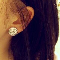 Glitter Button Earrings