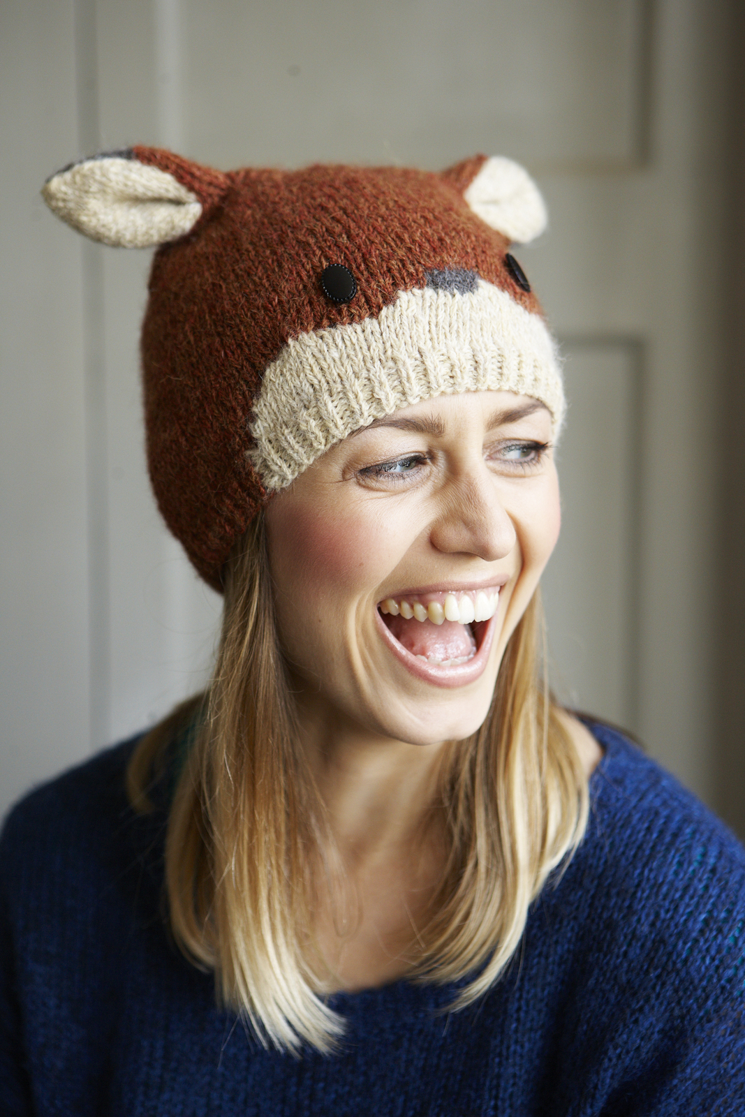 Animal Hat Knitting Patterns : Fox Beanie Hat ? Extract from Animal Hats by Rachel Henderson ? How To Make A...