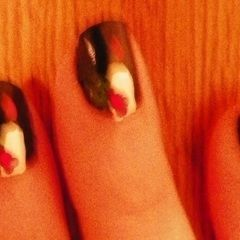 Candle And Holly Nails