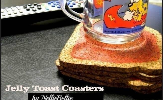 Jelly Toast Coasters