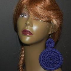 Deep Purple Crochet Earrings