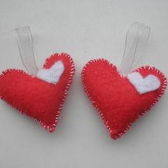Little Felt Heart Hangers