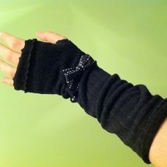 Armwarmers From Old Tights
