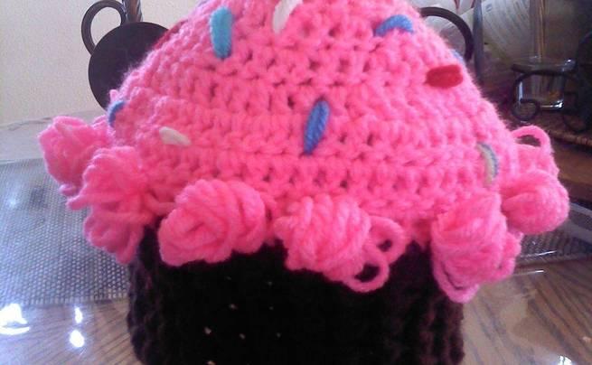 Cupcake Crochet Beanie Hat