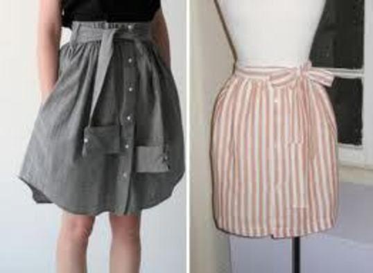 Diy Mens Dress Shirt Transformed Into A Cute Skirt · How ...