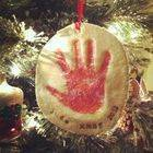 Holiday Handprint Ornaments