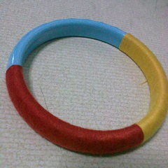 Sewing Thread Wrapped Bangle