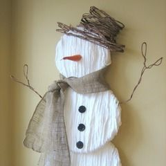 Cute Yarn Snowman