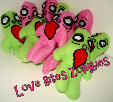 Even zombies need someone to love. .  Make a zombie plushie by sewing with felt, hot glue gun, and fabric paint. Inspired by halloween, zombies, and monsters. Creation posted by Sugarlishes. Difficulty: Easy. Cost: Cheap.