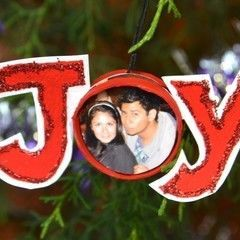 "Recycled Picture ""Joy"" Ornament"