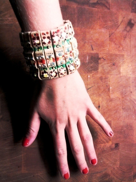 Diy Wooden Clothespin Bracelet · How To Make A Recycled Bracelet · Art, Jewelry Making, and ...