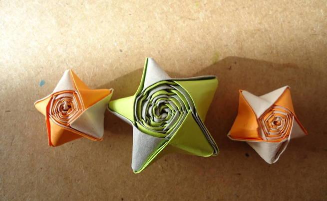 Bicolor Paper Star
