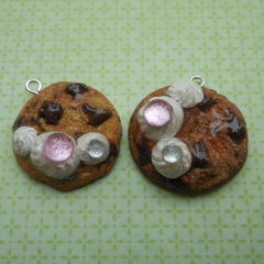 Polymer Clay Chocolate Chip Cookie Charm