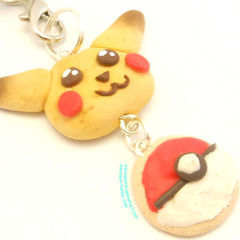 Polymer Clay Pikachu Cell Phone Strap Charm