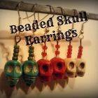 Beaded Skull Earrings