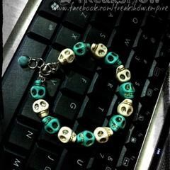 Winter Sugar Skull Bracelet